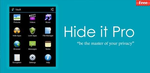 مخفی سازی فایل Hide Pictures – Hide it Pro v5.20 اندروید