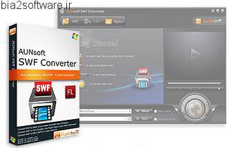 تبدیل فایل های فلش Aunsoft SWF Converter v2.1.2.80