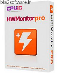 CPUID HWMonitor Pro 1.29 نمایش دما و عملکرد سی پی یو و قطعات سخت افزاری