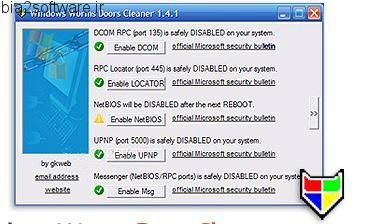 Windows Worms Door Cleaner v1.4.1 رفع مشکل Generic Host Process for Win32 Services