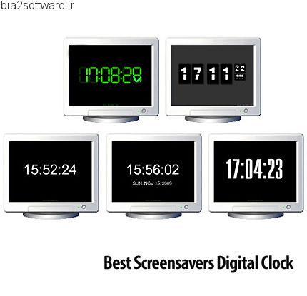 Best Screensavers Digital Clock اسکرین سیورهای ساعت دیجیتالی