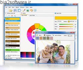 CoffeeCup Website Color Schemer v4.1 انتخاب رنگ و طراحی سایت