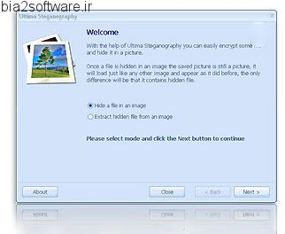 Ultima Steganography v1.1 پنهان کردن فایل ها درون تصاویر