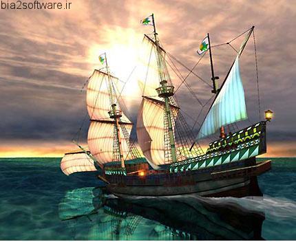 Galleon 3D Screensaver v1.3 اسکرین سیور کشتی بادبانی سه بعدی