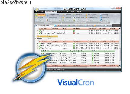 VisualCron v5.7.4 زمان بندی انجام خودکار وظایف در ویندوز
