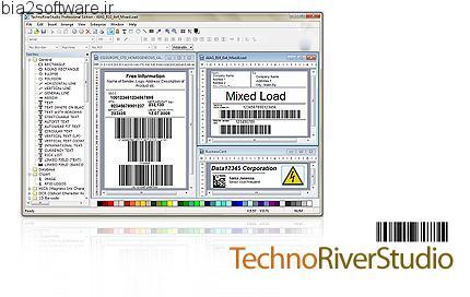 TechnoRiverStudio Pro v7.0.1675 ایجاد و چاپ بارکد و برچسب