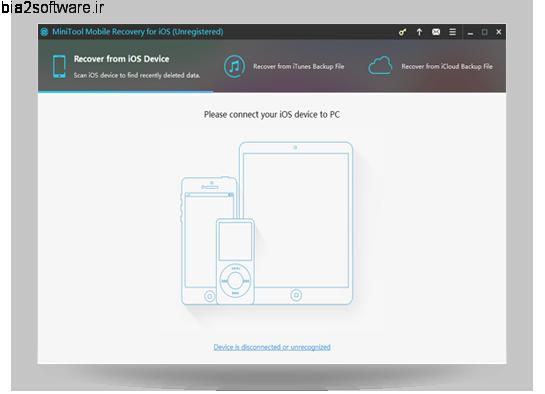 MiniTool Mobile Recovery for iOS v1.4.0.1 ریکاوری اطلاعات گوشی های دارای سیستم عامل iOS
