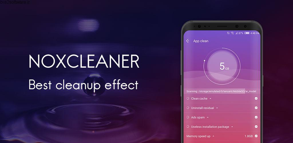 NoxCleaner – Phone Cleaner, Booster, Optimizer v1.8.1 Ad Free اپلیکیشن بهینه ساز سبک و سریع اندروید
