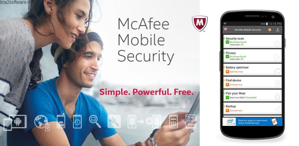 آنتی ویروس McAfee Mobile Security & Lock 5.1.0.686