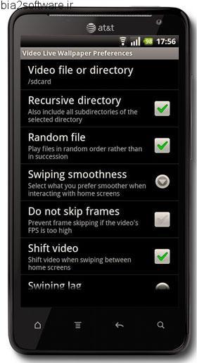 ویدئو لایو والپیپر اندروید Video Live Wallpaper 1.0
