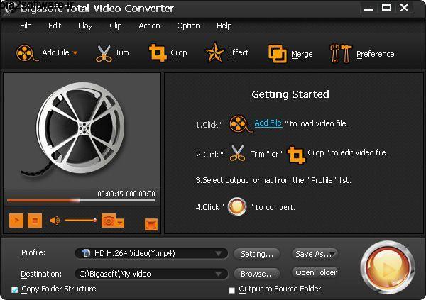 Bigasoft Total Video Converter 6.2.0.7269 مبدل قدرتمند انواع فرمتهای صوتی و تصویری