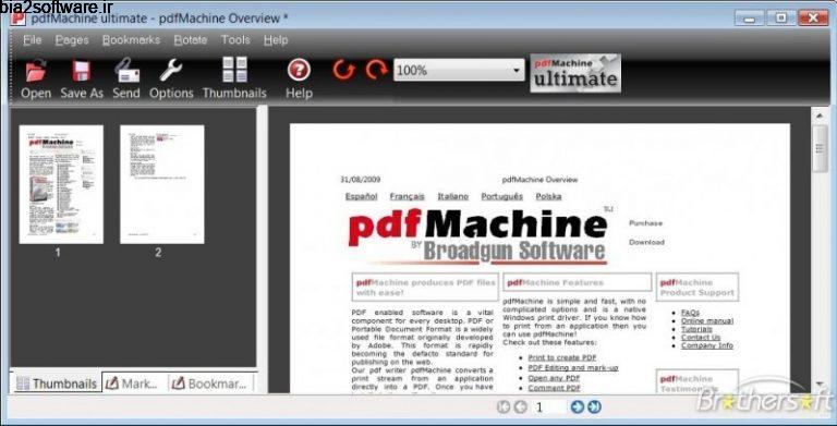 Broadgun pdfMachine Ultimate 15.33 ساخت و ویرایش فایل های PDF