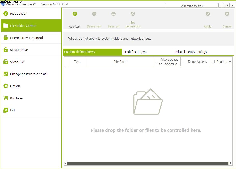 xSecuritas Secure PC 2.1.0.4 مخفیسازی فایلها در سیستم