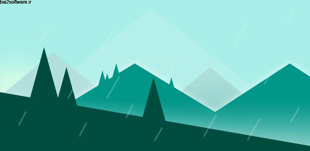 Rainpaper 2.5.1 لایو والپیپر منظره بارانی مخصوص اندروید