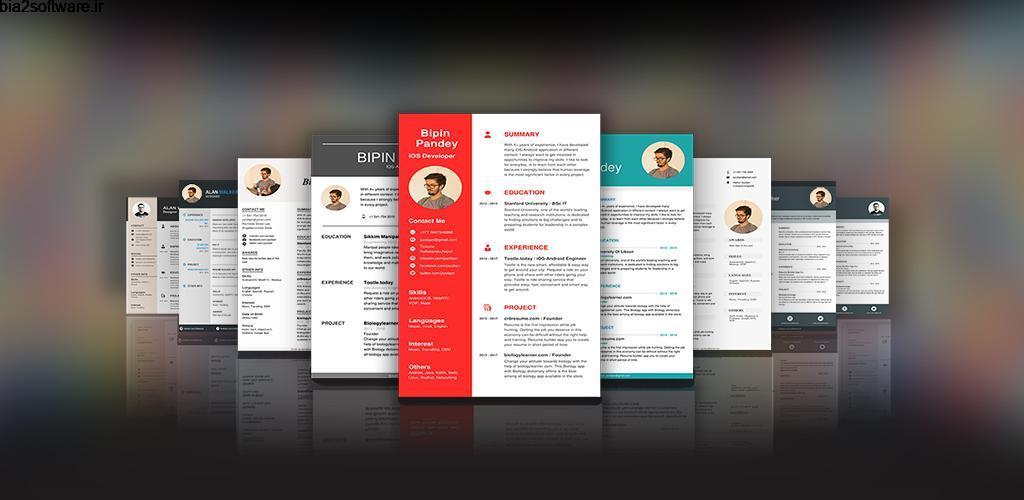 CV Maker Resume Builder PDF Template Format Editor 9.1.18.pro ایجاد رزومه های حرفه ای مخصوص اندروید