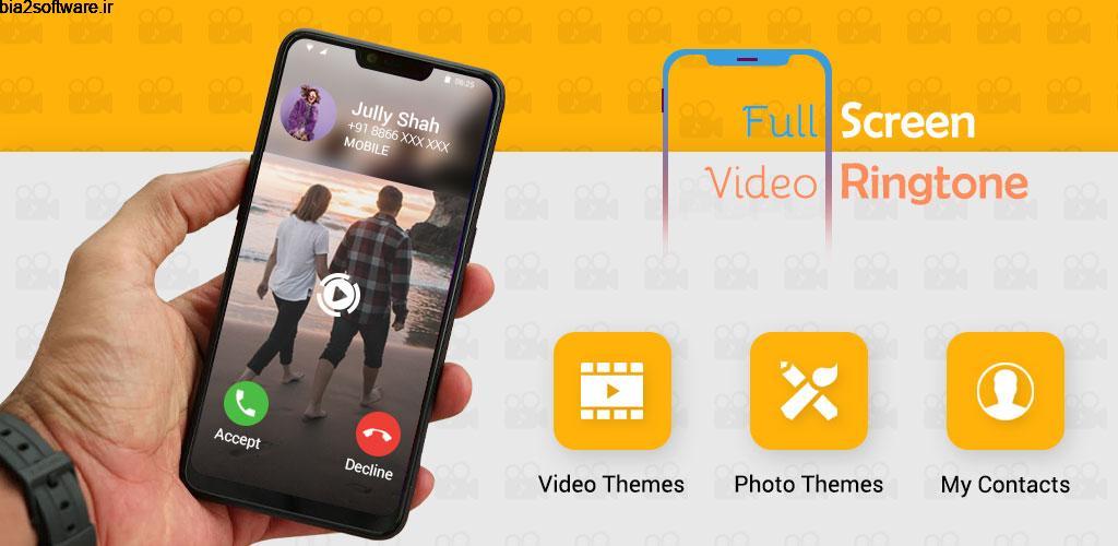 Full Screen Video Ringtone : Color Phone Flash 1.1 ویدئو تماس تمام صفحه برای مخاطبین اندروید!