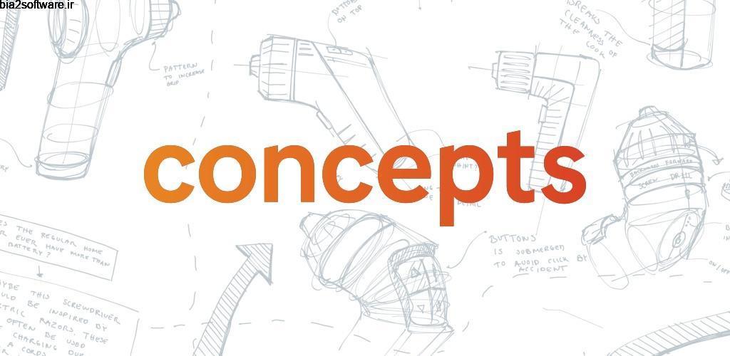 Concepts – Sketch, Design, Illustrate Premium 1.7.4 اپلیکیشن عالی و کامل برای طراحی مخصوص اندروید