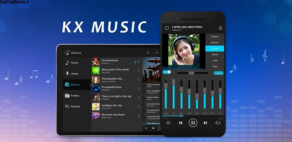KX Music Player Pro 1.8.6 موزیک پلیر حرفه ای اندروید