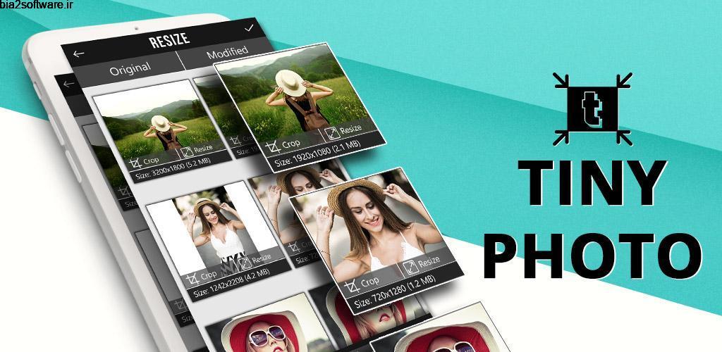 TinyPhoto: Convert (JPEG PNG), Crop, Resize Pro 1.2 تبدیل، تغییر اندازه و کاهش حجم دسته ای تصاویر مخصوص اندروید