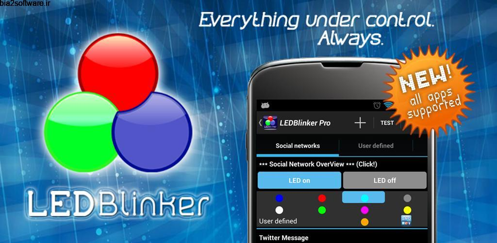 LED Blinker Notifications Pro – Manage your lights 8.0.0 اطلاع رسانی وقایع مخصوص اندروید !
