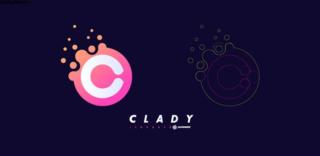 Clady Icon Pack 1.1.2 آیکون پک زیبا با رنگ های شاد و زنده مخصوص اندروید