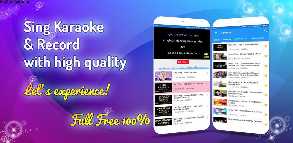 Sing Karaoke 1.8.3 کارائوکه ساده و با کیفیت اندروید !