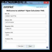 zebNet Byte Calculator 6.1.0.0 تبدیل واحدهای کامپیوتری