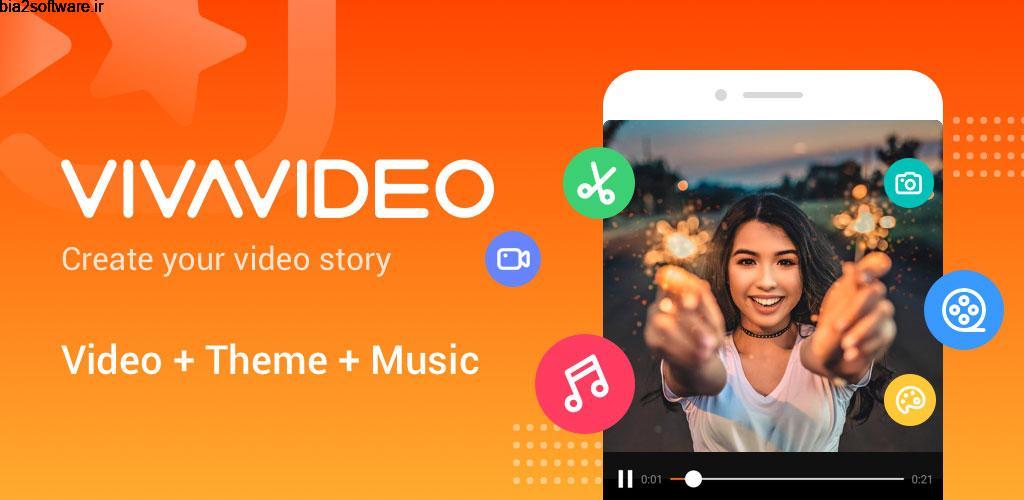 Video Editor & Maker VivaVideo 8.10.0 ویرایش ویدئو اندروید