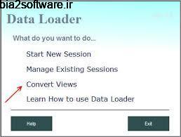 Data Loader 4.8 تبدیل پایگاه های داده به همدیگر