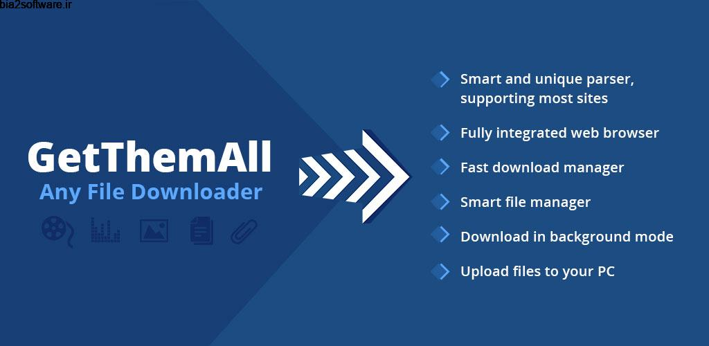 GetThemAll Any File Downloader 2.84 دانلودر فایل مخصوص اندروید