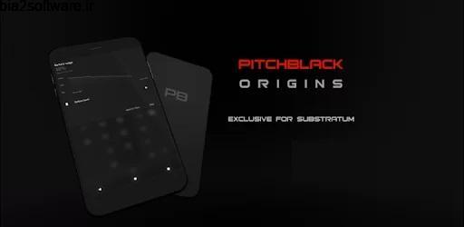 PitchBlack – Substratum Theme For Oreo/Pie/10 v87.4 تم مشکی تیره