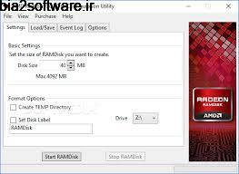 RAMDisk 4.4.0 RC 32 ساخت درایو مجازی