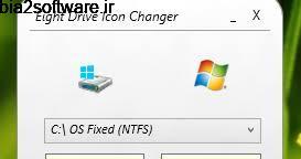 تغییر آیکن درایو ها در ویندوز 8 Eight Drive Icon Changer
