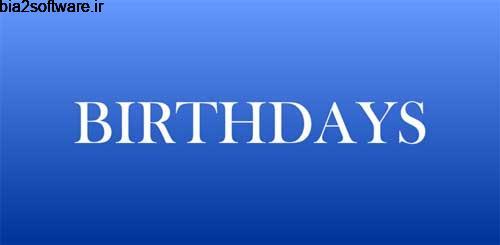 Birthdays v2017-03-05.52 یادآوری تاریخ تولد اندروید