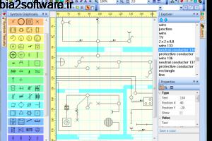 طراحی مدار الکتریکی (برای ویندوز) ProfiCAD 9.1.4 Windows