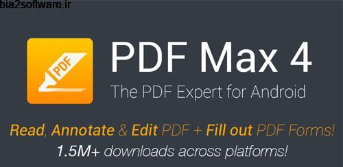 PDF Max Pro – The PDF Expert! v4.6.3 پی دی اف خوان اندروید