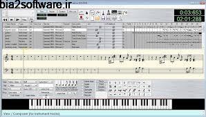 ضبط و تنظیم آهنگ MIDI (برای ویندوز)  Anvil Studio 2017 Windows