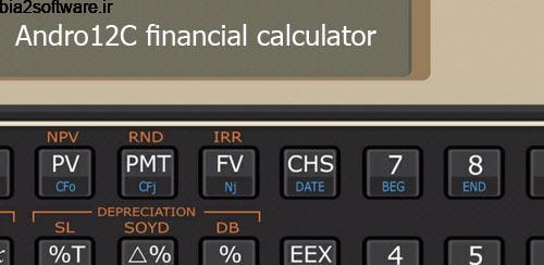 Andro12C financial calculator v2.05 ماشین حساب اندروید