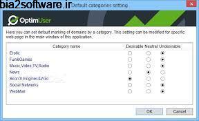 کنترل کامپیوتر و برنامه های استفاده شده OptimUser 1.4