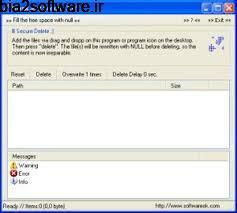 پاکسازی دائمی فایل ها Blank And Secure 4.25 Windows