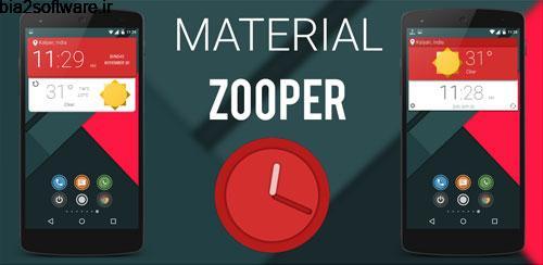 Material Zooper v1.00 افزونه ویجت زوپر برای اندروید