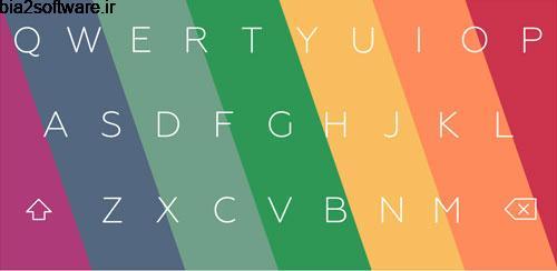 Flat Style Colored Keyboard Pro v1.18 کیبورد فلت برای اندروید