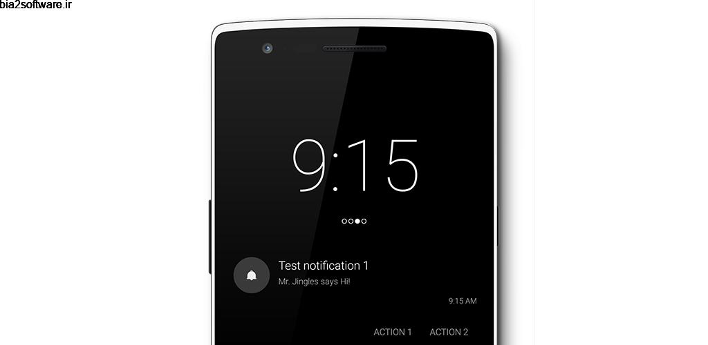 Notific Pro 8.1.0 نمایش اطلاعیه روی قفل صفحه اندروید