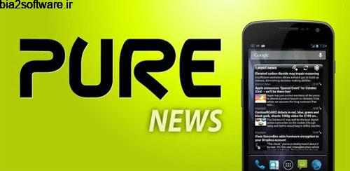 Pure news widget (scrollable) v1.4.5 ویجت برای اندروید