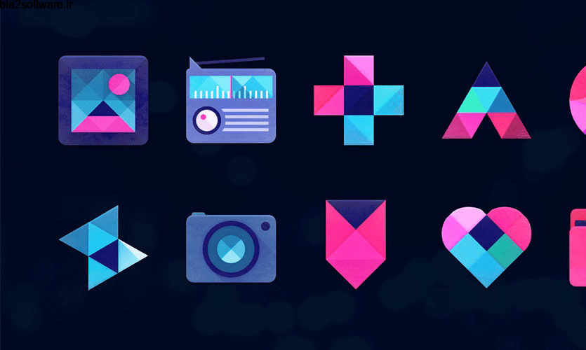 Unicorn Dark – Icon Pack 11.0 آیکون پک تک شاخ مخصوص اندروید