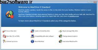 دسترسی به حافظه های مک در ویندوز MacDrive 9.3.2 Windows