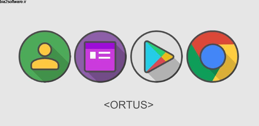 Ortus Icon Pack 6.2 آیکون پک پاستیلی و زیبا ارتوس اندروید