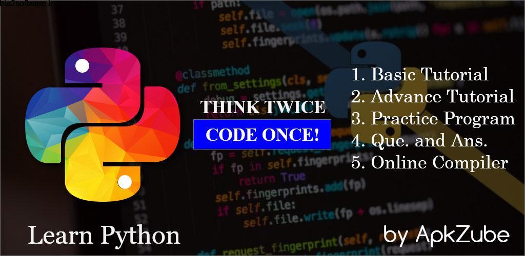 Learn Python Programming Pro 2.1 یادگیری زبان برنامه نویسی پایتون مخصوص اندروید